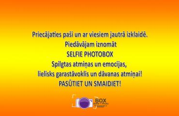 SELFIE PHOTOBOX(foto būda)